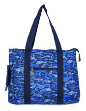 Jenzys Womens Dolphin Ocean Life  Large Shoulder Tote Bag for Travel Shopping