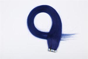 "20""-24"" Seamless PU Tape in Hair Extensions 100% Real Human Hair Highlights Hair"