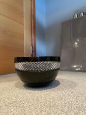 More details for john rocha @ waterford crystal black cut 20cm fruit bowl mint condition used