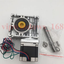 Nema23 Worm Speed Reducer 201 Gearbox L56mm Stepper Motor 11nm For Cnc Router