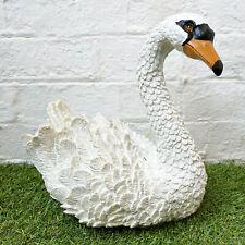 White Resin Elegant Swan Bird Decorative Garden Pond Ornament Sculpture Large