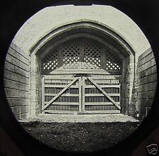 Glass Magic Lantern Slide TRAITORS GATE THE TOWER LONDON C1890 ENGLAND . LONDON