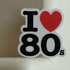 I Love 80s Retro 1980 Vintage Old School 6.5x6.5cm DECAL STICKER #2421