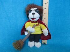 Harry Potter PLUSH TOY Harry as a dog in QUIDDITCH CAPE W/ BROOM made by Big Dog