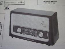 GRUNDIG MAJESTIC 1097U RADIO PHOTOFACT