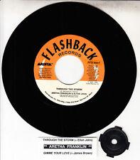"ARETHA FRANKLIN & ELTON JOHN  Through The Storm 7"" 45 record NEW + jukebox strip"