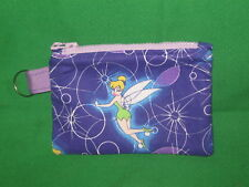 """TINKER BELL""  Coin Purse w/ Key Ring-  Handmade-Black & Red"