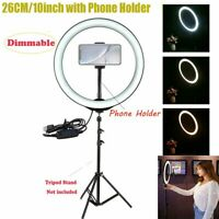 "26cm 10"" LED Ring Light Dimmable Lighting  Phone Selfie Makeup Live Lamp"
