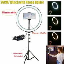 "26cm 10"" LED Ring Light Dimmable Lighting  Phone Selfie Makeup Live Lamp"