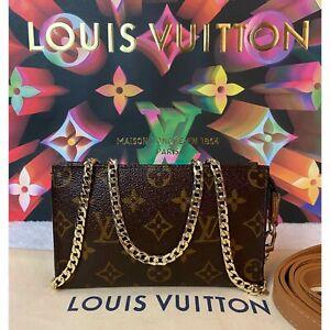 CERTIFIED AUTH. Louis Vuitton Cross Body Monogram Pouch Pochette ~🇺🇸US SELLER