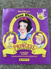 Walt Disney The Princess Collection Panini Sticker Album Complete Snow White