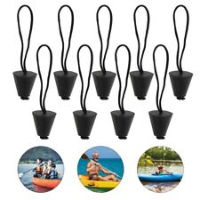 New listing 12pcs Lightweight Lanyard Scupper Plugs Scupper Stopper for Canoe