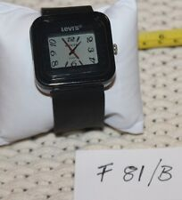 Levi's Unisex Black  Rubber Strap Watch F80/B