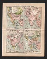 Landkarte map 1909: Karte zur Geschichte der Europäischen Türkei. Bulgarien Alba