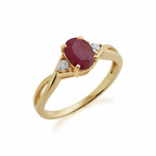 Heating Ruby Yellow Gold Fine Rings