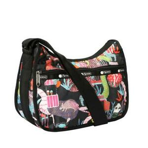 LeSportsac Classic Classic Hobo Crossbody Bag in Midnight Menagerie NWT