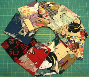 Vicky's Private Stash PRE-WASHED Alexander Henry Asian Themed Fat Quarters