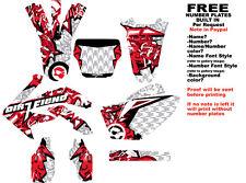"DFR CRF450 GRAPHICS ""BOMBER"" RED/WHITE 2005-2008 CRF 450 HONDA"