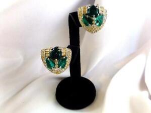 Fabulous Vintage WEINBERG NY FRUIT SALAD & Baguette Rhinestone Earrings