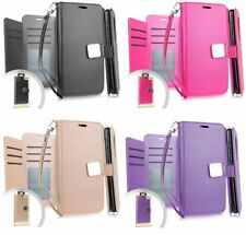 For T-Mobile Revvl 2 Plus - PU Leather Multi Cards Wallet Case Diary Pouch Cover