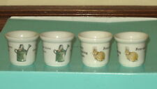 Four Small Wedgwood Peter Rabbit Cups - Same & Different