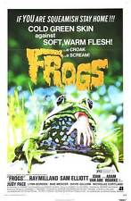 FROGS Movie POSTER 27x40 B Ray Milland Sam Elliott Joan Van Ark Adam Roarke Judy