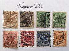 Lot 8 Timbres oblitérés Deutsche Reichs YT DR 45/49. 1889/1900