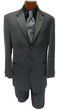 39X Chaps Ralph Lauren Charcoal Grey Tuxedo Jacket Blazer Halloween Costume Coat