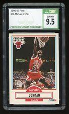 1990-91 Fleer Michael Jordan #26 Chicago Bulls HOF CSG 9.5 Gem Mint