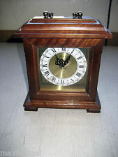 """NEW Mantle Clock by Fortuna, Mahogany Stain, Quartz Movement, 6.5""""x8x3.25, 2nd h"""