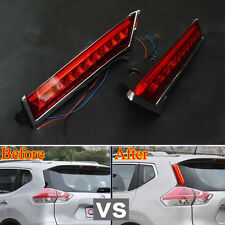 For Rogue X-Trail 14-2016 Car Rear Window Tail Brake Light Decoration Lamp Led