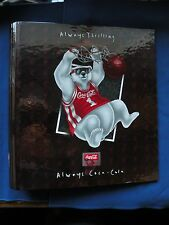 "Coca-Cola Basketball Bear 1 ½"" 3 ring binder curveback binder brand never used"