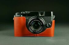 Handmade Vintage Half Real Leather Camera Case Camera Cover Bag for FUJI X20 X10