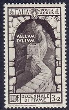 ITALIA 1934 - DECENNALE ANNESSIONE DI FIUME - POSTA AEREA - L. 3 - MNH