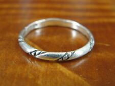 Silver 925 Ring Size 9 Rope look Pattern Band Sterling