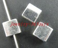 90pcs Tibetan Silver Smooth Square Spacers 7x7mm 861