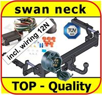 Towbar & Electrics 7pin 12N Vauxhall Zafira B 2005 to 2011 / swan neck Tow Bar