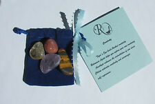 Healing Crystal Stones Pouch Creativity self-expression with Incense Sticks