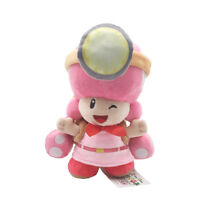New Super Mario Miner Toadette Standing Pose Plush Doll Toy - 8 In.