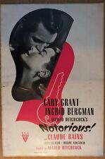 NOTORIOUS, Hitchcock, Gary Grant, Ingrid Bergman, 1946, Pressbook 409