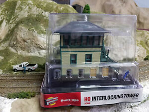 HO Walthers built-up Interlocking Tower; built building.; nice...