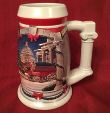 """""""Holiday at the Capitol 2001"""" Budweiser's Holiday Stein Anheuser-Busch Christmas"""