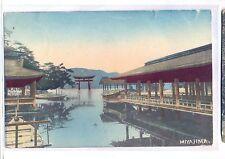 K 130 - Miyajima japan, von Tsingtau 1908 m. Marke