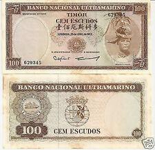 TIMOR 100 ESCUDOS DECRETO 1963 CON MACCHIE #B 34