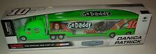 Danica Patrick 2013 GoDaddy #10 Hauler Truck Trailer 1/64 NASCAR Collectable