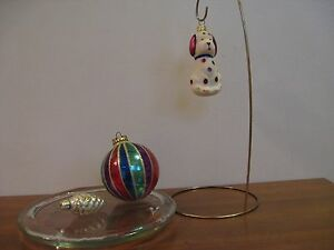 Vintage mix Christmas ornaments, lot of 3, made in Poland +