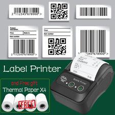 Wireless BT Thermal Receipt Printer Mobile POS Label Printer + Thermal Paper x4