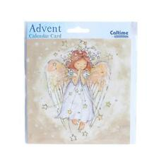 Compte À Rebours De Noël Calendrier De L'avent Carte - 24 Fenêtres - 394393 Ange