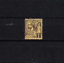 MONACO  prince  Abert 1er     1f  noir sur jaune    num:  20   oblitéré