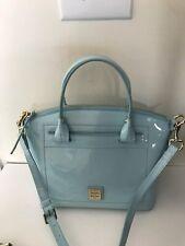 Dooney Bourke Handbag Beacon Collection Patent Light Blue Domed Satchel New